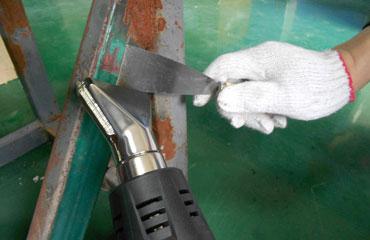 Paint Stripping From Heat Gun